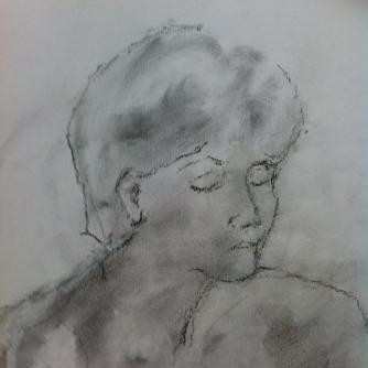 Emma, charcoal on paper